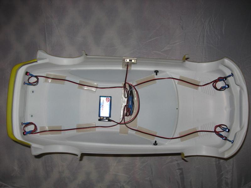 auto led beleuchtung 8 er f r verbrenner m1 8 m1 10 5 mm leds superhell. Black Bedroom Furniture Sets. Home Design Ideas