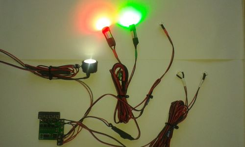 Hubschrauber Set 3 Watt High Power LEDs 1x Lande. 2x Pos.Licht 2x ACL 2x Beacon